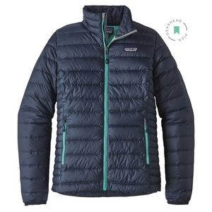 Patagonia Packable Down Sweater Jacket - Blue - S